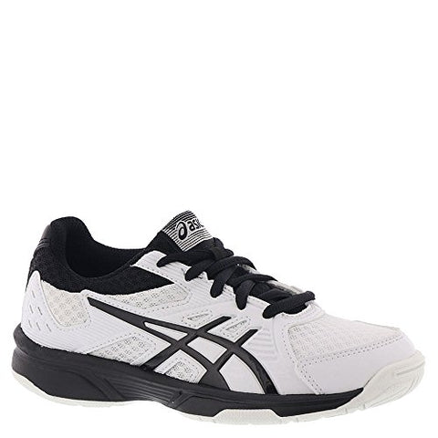 Asics Upcourt 3 Gs Kids Volleyball Shoes, White/Black, Size 3
