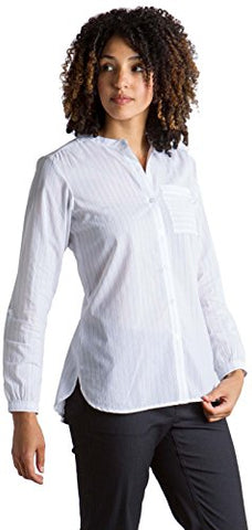 Exofficio Women'S Lencia Relaxed Fit Long-Sleeve Shirt, White, X-Large