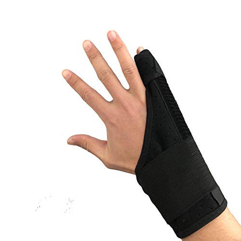 Ultrafun Trigger Finger Splint Brace Support Breathable Wrist And Thumb Fracture Finger Stabilizer Brace Sleeves For Pain Relief, Carpal Tunnel Arthritis Tendonitis (Pinky Finger)