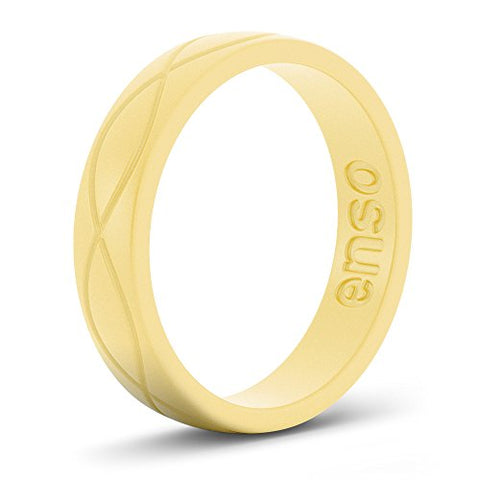 Enso Womens Infinity Silicone Ring Pollen Size: 7