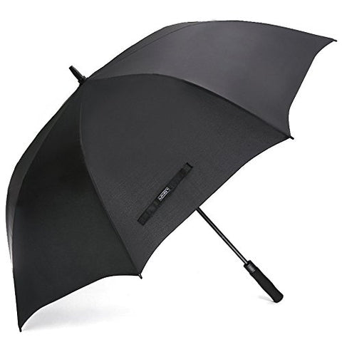 G4Free 68 Inch Automatic Open Golf Umbrella Sun Protection Large Oversize Windproof Waterproof Stick Umbrellas(Black)
