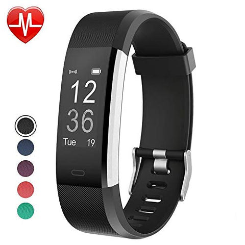 Yamay Fitness Tracker, Fitness Watch Smart Watch Activity Tracker With Heart Rate Monitor,Sleep Monitor Step Counter 14 Sports Tracker,Ip67 Waterproof,Slim Pedometer Watch For Men Women Kids (Black)