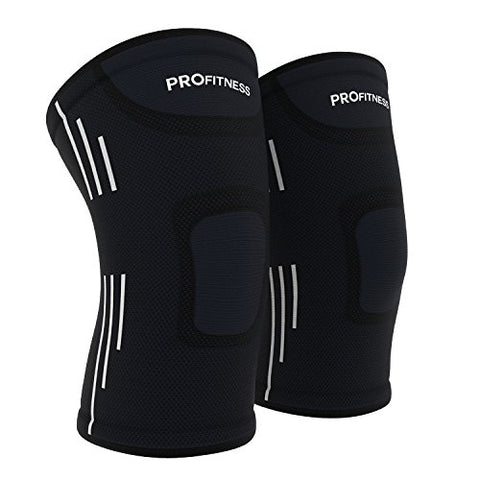 Profitness Knee Sleeves (One Pair) Knee Support For Joint Pain &Amp; Arthritis Pain Relief - Effective Support For Running, Pain Management, Arthritis Pain, Surgery Recovery (Small, Black/White)