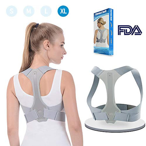 Posture Corrector For Women Men Back Brace Comfortable Clavicle Support Device For Thoracic Kyphosis And Shoulder Neck Pain Relief Xl-Fda Approved