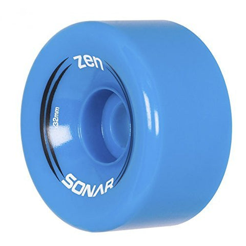 Riedell New Sonar Zen Quad Outdoor Replacement Skate Wheels 8 Pack! (Bright Blue)