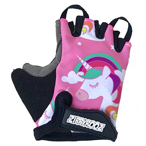 Zippyrooz Toddler &Amp; Little Kids Bike Gloves For Balance And Pedal Bicycles (Formerly Weeriderz) For Ages 1-8 Years Old. 6 Designs For Boys &Amp; Girls (Unicorn, Little Kids Xl (7-8))