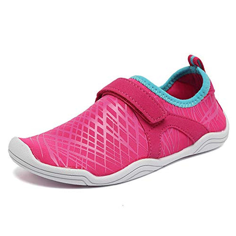 Equick Boys &Amp; Girls Water Shoes Lightweight Comfort Sole Easy Walking Athletic Slip On Aqua Sock(Toddler/Little Kid/Big Kid) Pink-33