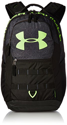 Under Armour Big Logo 5.0 Backpack,Stealth Gray (008)/Quirky Lime, One Size