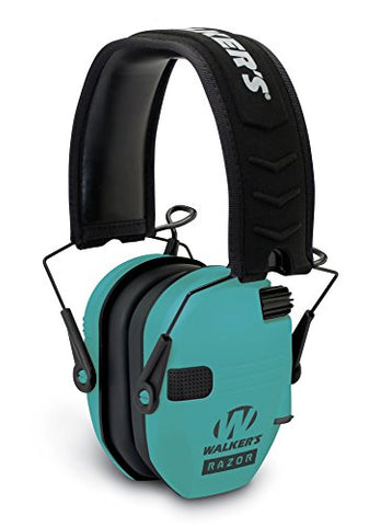 Walker'S Razor Slim Electronic Muff - Light Teal