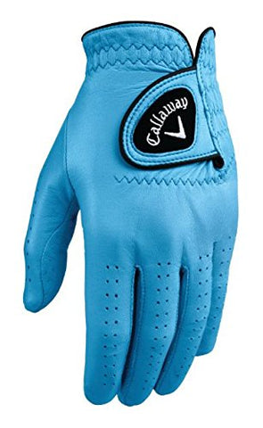 Callaway Golf Men'S Opticolor Leather Glove, Light Blue, Large, Worn On Left Hand