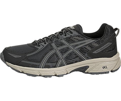 Asics Men'S Gel-Venture 6 Black/Dark Grey Feather Ankle-High Running Shoe - 10.5M