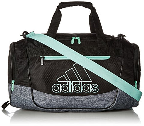 Adidas Defender Iii Small Duffel, Black/Onix Jersey/Clear Mint Green, One Size
