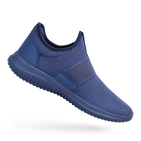 Feetmat Walking Shoes For Men Lightweiht Breathable Flat Casual Fashion Sneaker For Boy Blue 12.5