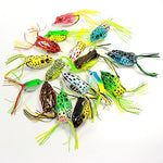 Croch Hollow Body Frog Lure Weedless Topwater Kit (18 Pcs)