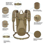 Unigear Tactical Hydration Packs Backpack 1050D With 2.5L Water Bladder, Thermal Insulation Pack Keeps Liquid Cool Up To 4 Hours For Hiking, Cycling, Hunting And Climbing (Tan)