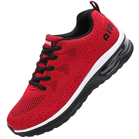 Jarlif Men'S Lightweight Athletic Running Shoes Breathable Sport Air Fitness Gym Jogging Sneakers (7 D(M) Us, Red)