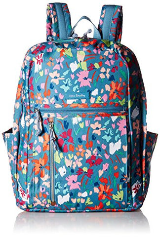 Vera Bradley Lighten Up Grand Backpack, Polyester, Superbloom Sketch