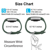 Poy Replacement Bands Compatible For Fitbit Charge 2, Classic &Amp; Special Edition Sport Wristbands, Olive Green, Small, 1Pc