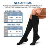 6 Pairs Compression Socks For Women And Men - Best Medical, Nursing, For Running, Athletic, Edema, Diabetic, Varicose Veins, Travel, Pregnancy &Amp; Maternity - 15-20Mmhg, Large / X-Large, White
