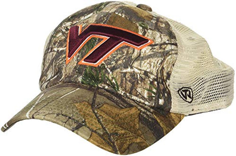 Ncaa Virginia Tech Hokies Men'S Camo Stock Adjustable Mesh Icon Hat, Real Tree