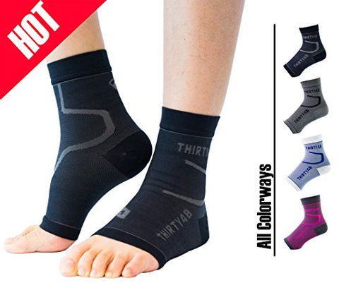 Thirty 48 Plantar Fasciitis Socks, 20-30 Mmhg Foot Compression Sleeves For Ankle/Heel Support, Increasing Blood Circulation, Relieving Arch Pain, Reducing Foot Swelling