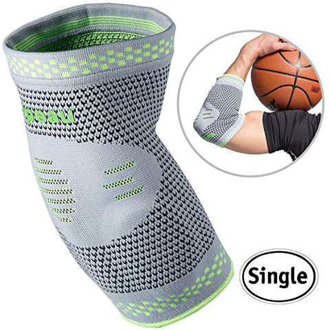 Velpeau Elbow Brace Compression Sleeve With Gel Pads Support For Tendonitis, Tennis &Amp; Golf Elbow Treatment, Arthritis, Bursitis, Relieve Joint Pain During Any Exercise For Women &Amp; Men (Large)