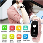 Fitness Tracker Watch, Waterproof Heart Rate Activity Tracker, Women Bluetooth Smart Sport Wristband With 8 Sports Mode Health Sleep Monitor Calorie Counter Kids Pedometer Outdoor For Ios Android