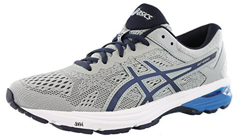 Asics Mens Gt-1000 6 Running Shoe Mid Grey/Peacoat/Directoire Blue 7.5 Medium Us