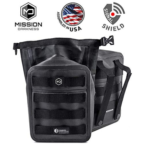Mission Darkness Dry Shield Molle Faraday Pouch - Waterproof Dry Bag For Electronic Device Security &Amp; Transport/Signal Blocking/Anti-Tracking/Emp Shield/Data Privacy For Phones, Tablets, Etc.