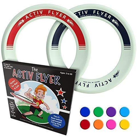 Activ Life Kid'S Flying Rings [Glow-In-The-Dark] - Cool Outdoor Toys For Healthy Children To Play Outside With Family &Amp; Friends - Fun Birthday Party Favors For Girls &Amp; Boys 4 5 6 7 8 9 10 11