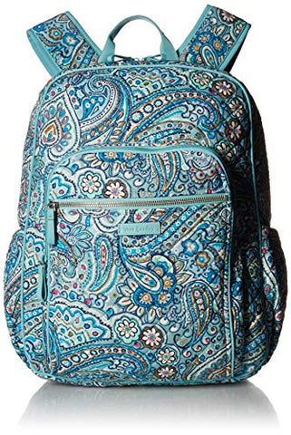 Vera Bradley Iconic Campus Backpack, Signature Cotton, Daisy Dot Paisley