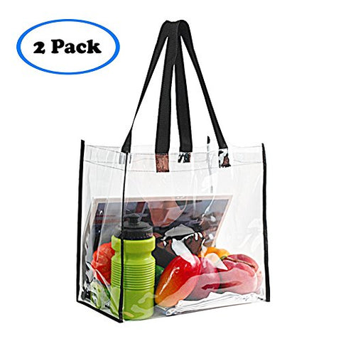 Stadium Approved Clear Tote Bag, Stadium Security Travel &Amp; Gym Clear Bag, Perfect For Work, School, Sports Games And Concerts,12 X 12 X 6