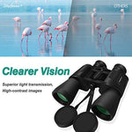 Skygenius 10 X 50 Powerful Full-Size Binoculars For Adults, Durable Clear Binoculars For Bird Watching Sightseeing Hunting Wildlife Watching Sporting Events With Low Light Night Vision(1.76 Pound)