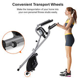Ideer Foldable Magnetic Exercise Bike,Upright Folding Exercise Bike With 8 Level Adjustable Magnetic Resistance And Pulse Sensors,Fitness Stationary Exercise Bike W/Phone/Tablet Holder (Silver09028)