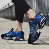 Kubua Womens Road Running Shoes Athletic Fitness Shoes For Women Trail Fashion Sneakers Tennis Sports Casual Walking F Blue Women 6 M Us/Men 5.5 M Us