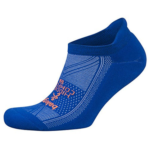 Balega Hidden Comfort Athletic No Show Running Socks For Men And Women With Seamless Toe, (Medium) - Neon Blue