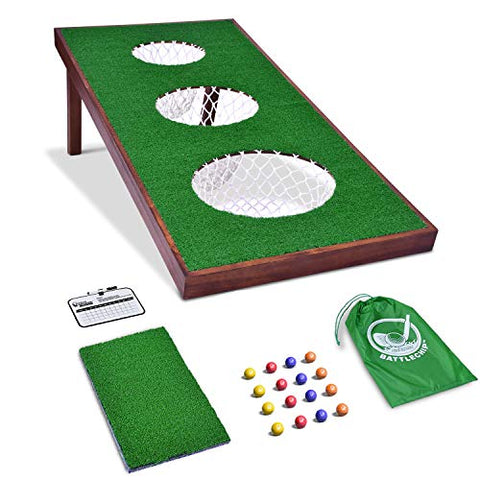 Gosports Battlechip Pro Golf Game | Includes 4' X 2' Target, 16 Foam Balls, Hitting Mat, And Scorecard