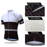 Coconut Pro Team Men'S Cycling Jersey Bib Shorts With 3D Padded (Medium, White/Black)