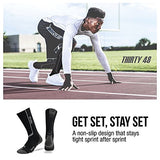 Thirty 48 Elite Compression Socks, Graduated 20-30Mmhg Compression For Performance And Recovery (L/Xl (Us Women 11-14+ / Us Men 9-13), [2 Pairs] Black/Grey &Amp; Blue/Grey)