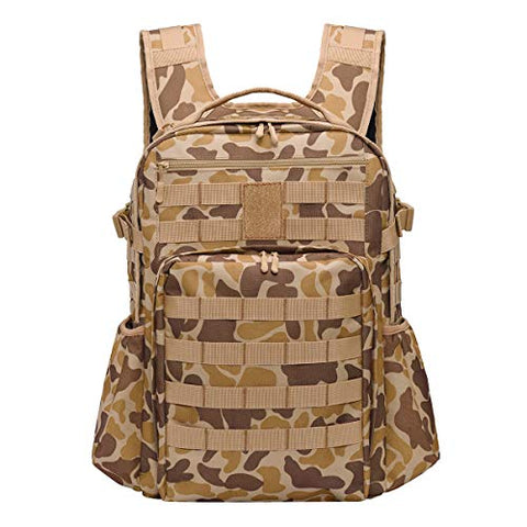 Marsbro Military Tactical Daypack 30L Desert Camo, Army 3 Day Assault Pack Bug Out Bag Sports Hiking Backpack