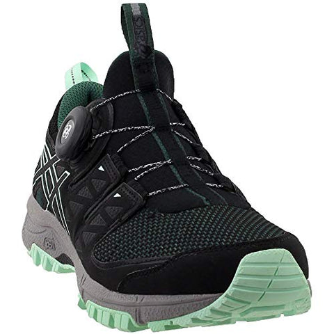 Asics Women'S Gel-Fujirado Trail Running Shoes (10.0 B(M) Us, Hampton Green/Black/Aluminum)