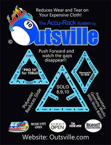 Accu-Rack Outsville Billiards Template Set (Solo, Diamond 9 And Pro 10)