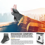 Sb Sox Compression Foot Sleeves For Men &Amp; Women - Best Plantar Fasciitis Socks For Plantar Fasciitis Pain Relief, Heel Pain, And Treatment For Everyday Use With Arch Support (Gray, Medium)