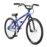 Mongoose Title Junior Bmx Race Bike For Beginner Riders, Featuring Lightweight Tectonic T1 Aluminum Frame And Internal Cable Routing With 20-Inch Wheels, Blue