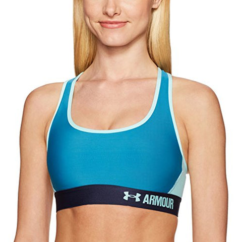 Under Armour Women'S Armour Crossback Mid,Bayou Blue /Blue Infinity, X-Large