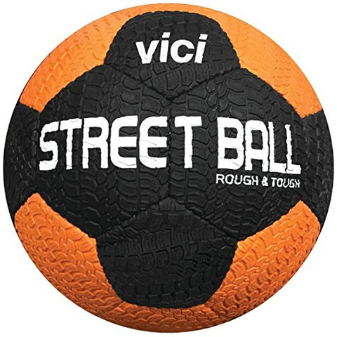 Vici Street Soccer Ball - Size Black/Orange, 5