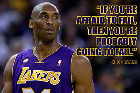 Kobe Bryant Poster Quote Black History Month Posters Cool Los Angeles Lakers Quotes Basketball Sports Decor Coaching Wall Art Growth Mindset Teacher Educational Teaching Learning Quotes Elementary 42