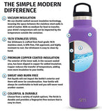 Simple Modern 20Oz Ascent Water Bottle - Hydro Vacuum Insulated Flask W/Handle Lid - Double Wall Stainless Steel Reusable - Leakproof -Lilac