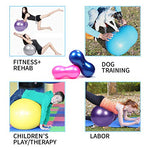 Wekin Physio Roll Therapy Fitness Exercise Peanut Ball With Pump/Best For Balance &Amp; Coordinate Development,Extra Thick,Best For Home Exercise &Amp; Yoga Programme Size 45X90Cm&Amp;50X100Cm