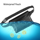 Venterior Waterproof Pouch With Waist Strap - Keep Your Phone Wallet License Safe And Dry - Perfect Dry Bag For Boating Swimming Snorkeling Fishing Sailing Beach Water Parks (Black &Amp; White)
